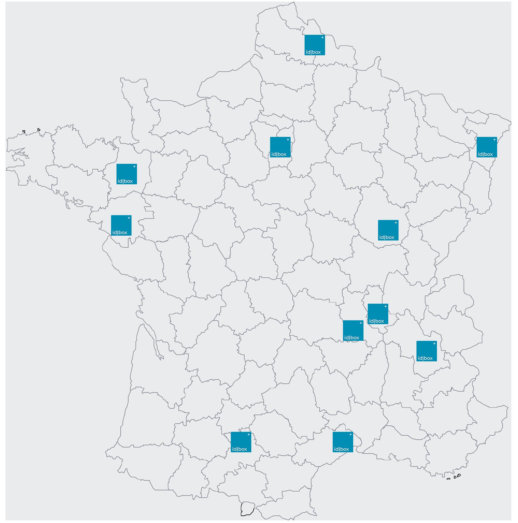 Carte idbox france