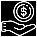 Um ícone com três mãos unidas.
