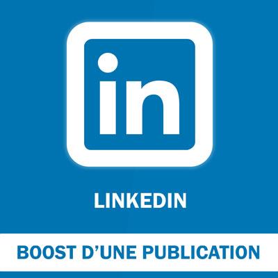 Boost d'une publication LinkedIn