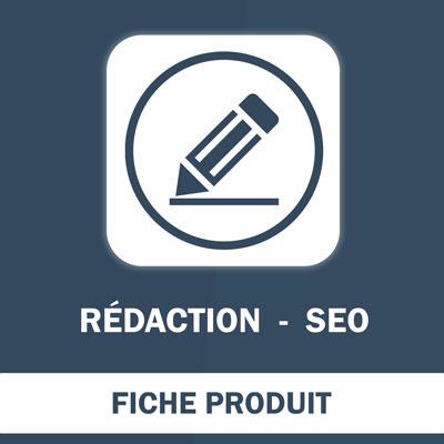 Rédaction - Fiche Produit - SEO