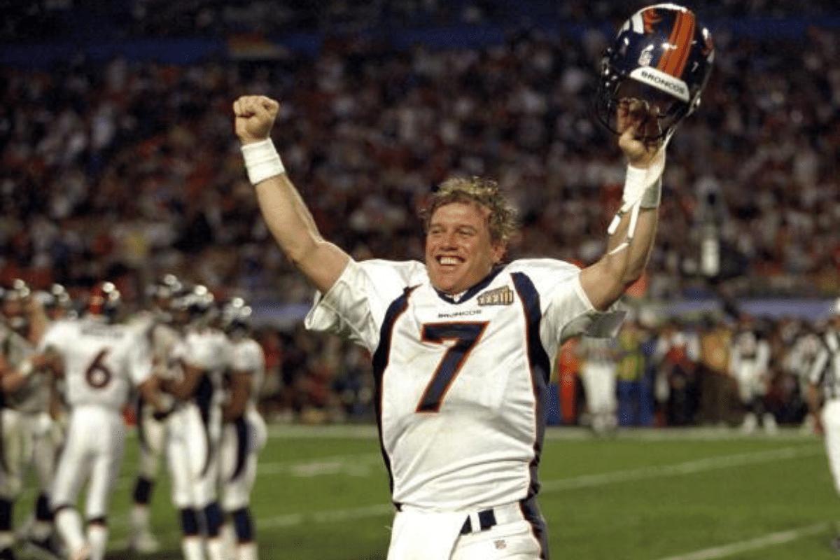 John Elway of the Denver Broncos