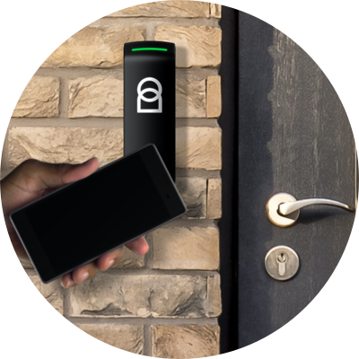Proxy device outside a residential door