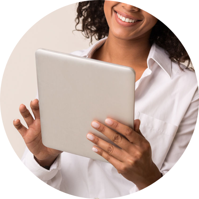 Property manager using a tablet