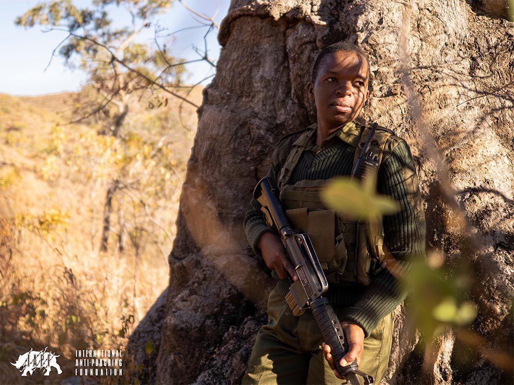 Akashinga Ranger on patrol