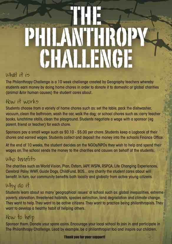 Philanthropy Challenge Flyer