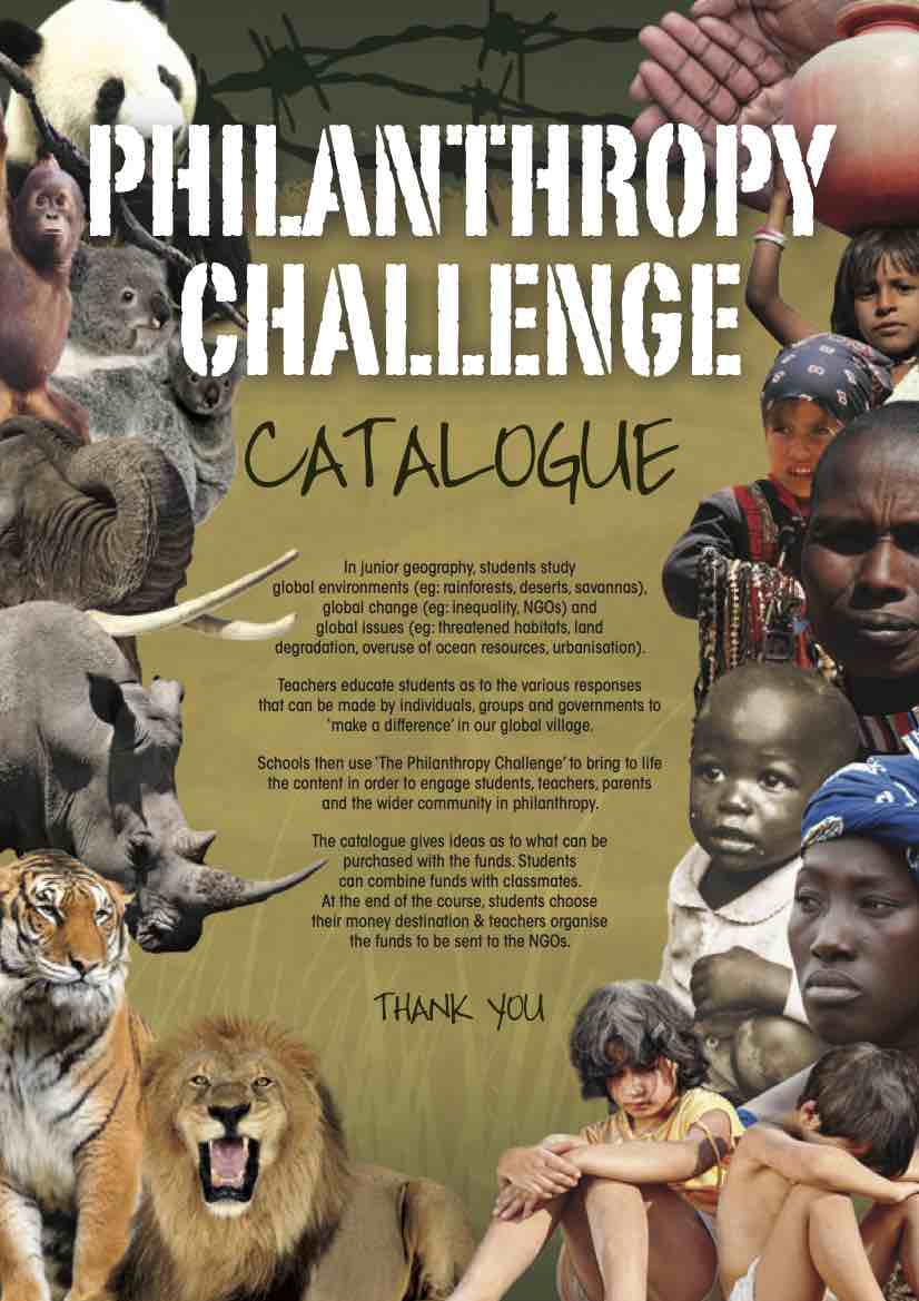 Philanthropy Challenge Catalogue