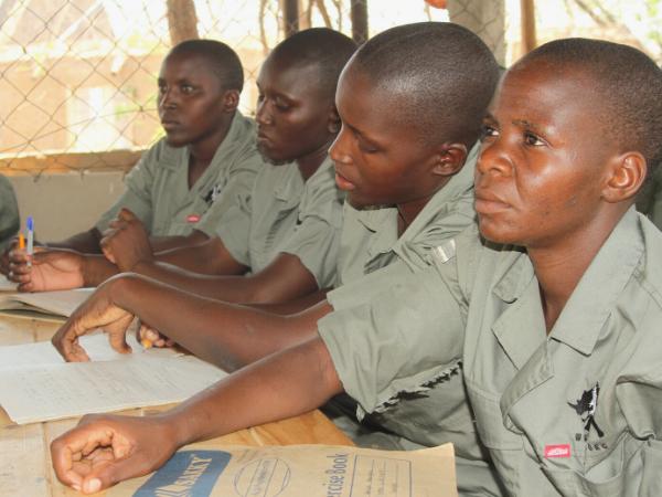 Trainees listen intently