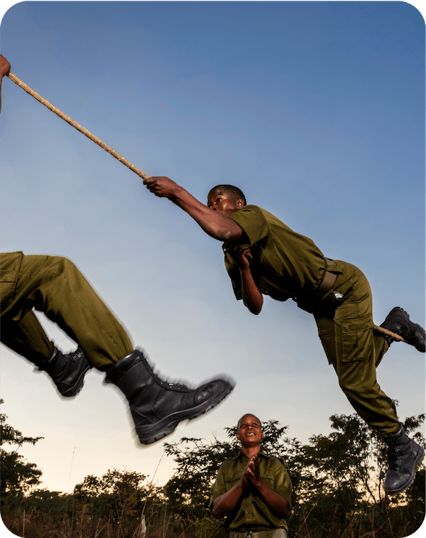 Akashinga Rangers Rope Training