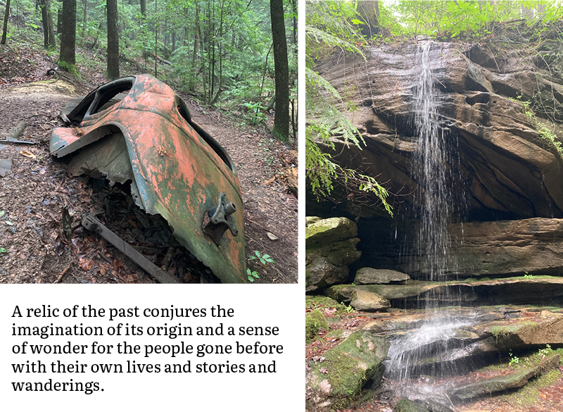 A relic of the past conjures the imagination of its origin and a sense of wonder for the people gone before with their own lives and stories and wanderings.