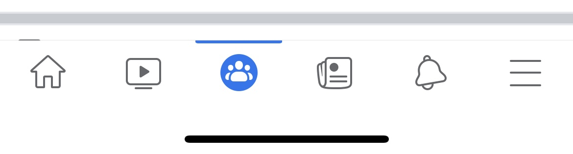 Facebook App Nav Bar