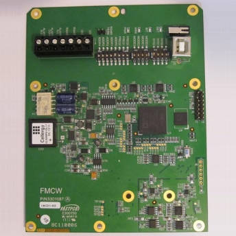 Mixed signal board with a DSP and analog circuits for I/Q processing of FMCW radar signals