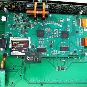 A circuit board with DSP - FPGA co processing which provides very high processing power