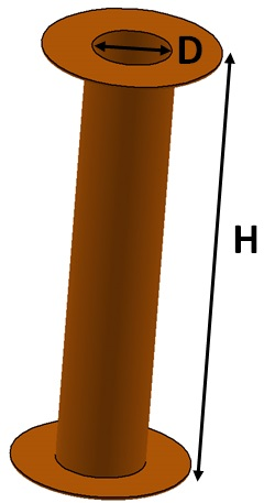 via barrel and aspect ratio illustration
