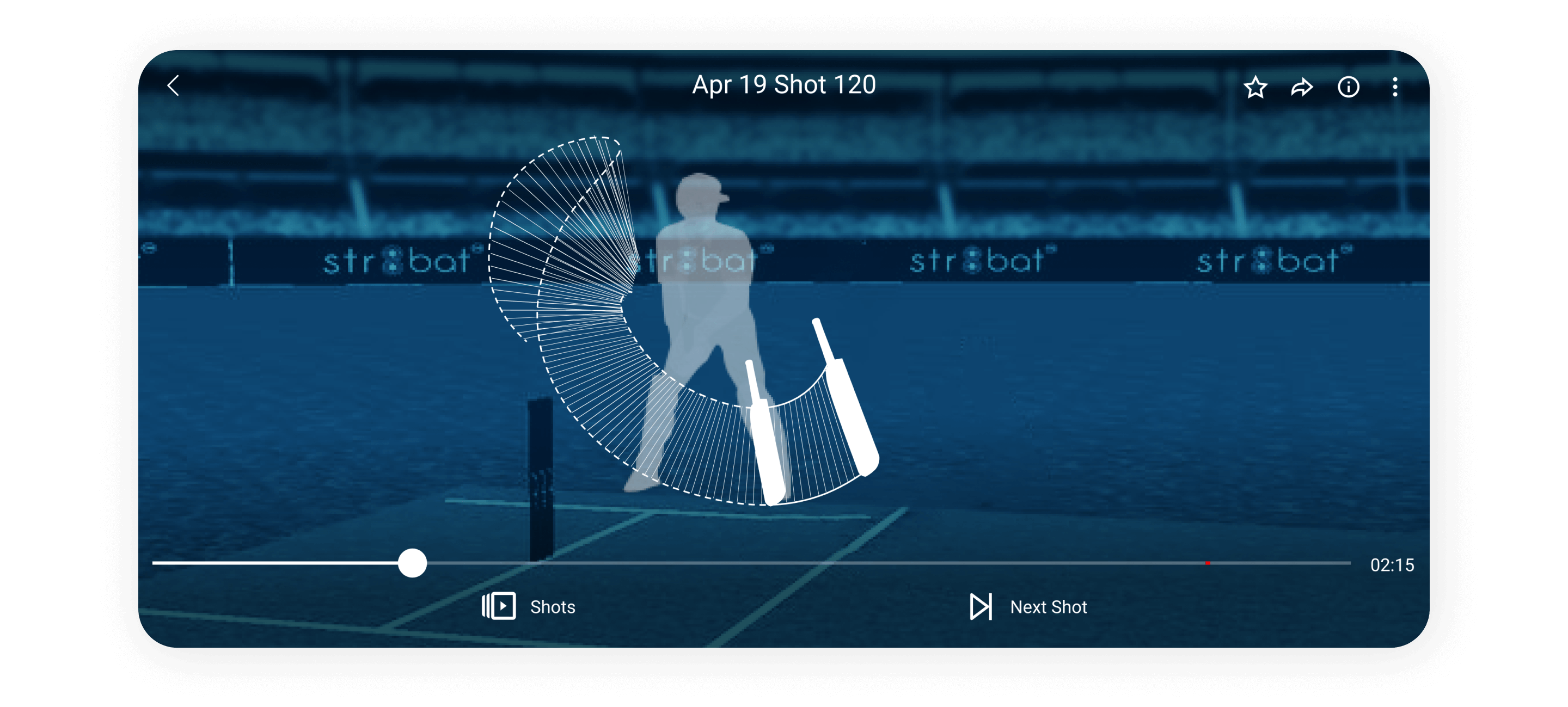 'Cricket as a celebration' is the concept behind the branding and visual design of the mobile app, Str8bat.
