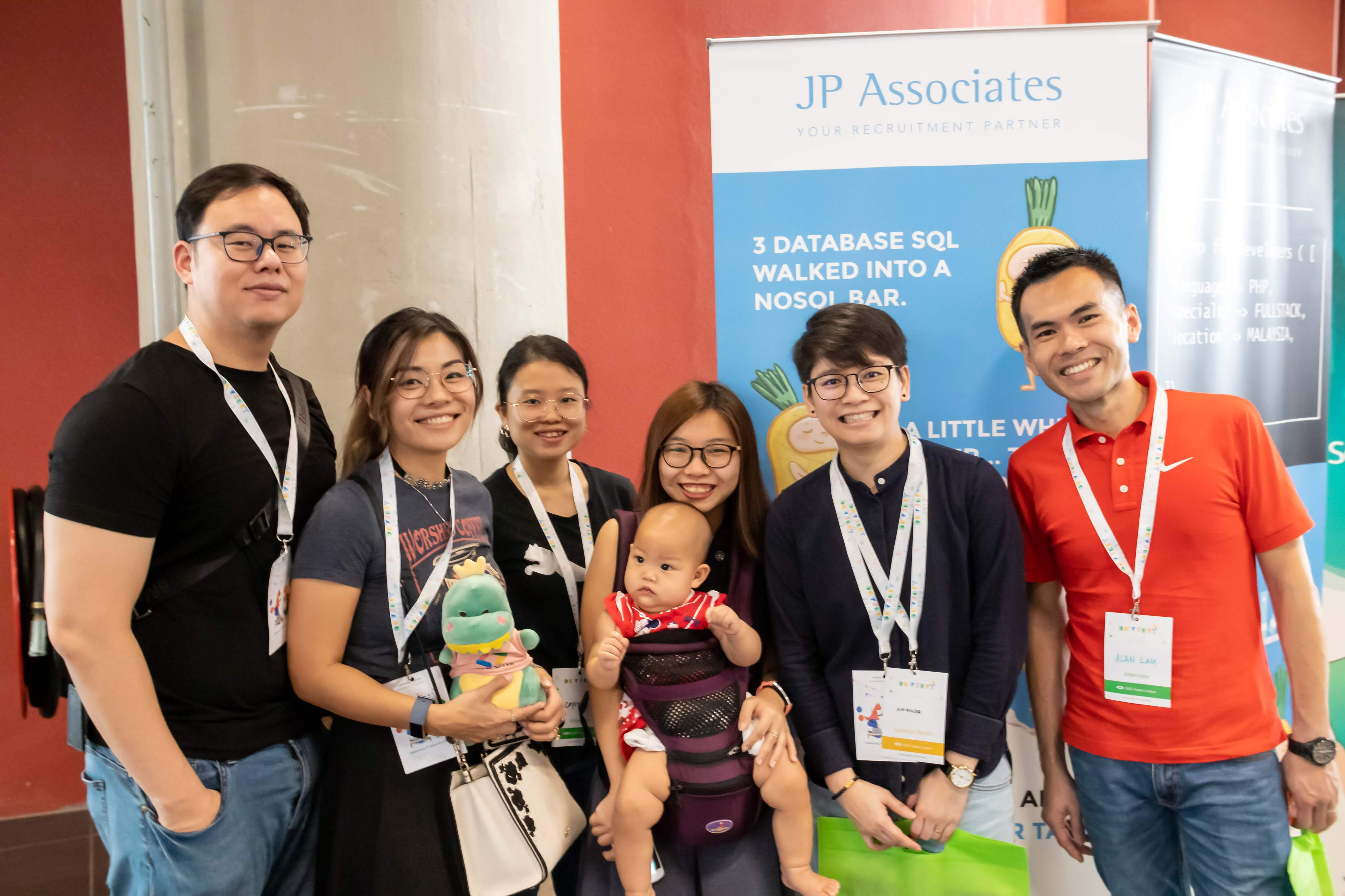 JP Associates IT Recruitment Firm Malaysia - team photo in Google Developer Group Kuala Lumpur 2019