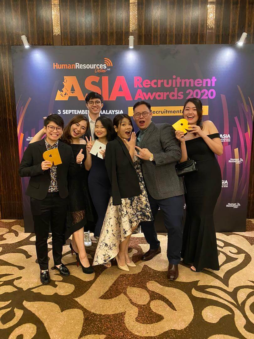JP Associates IT Recruitment Firm Malaysia - another team photo in the asia recruitment awards 2020