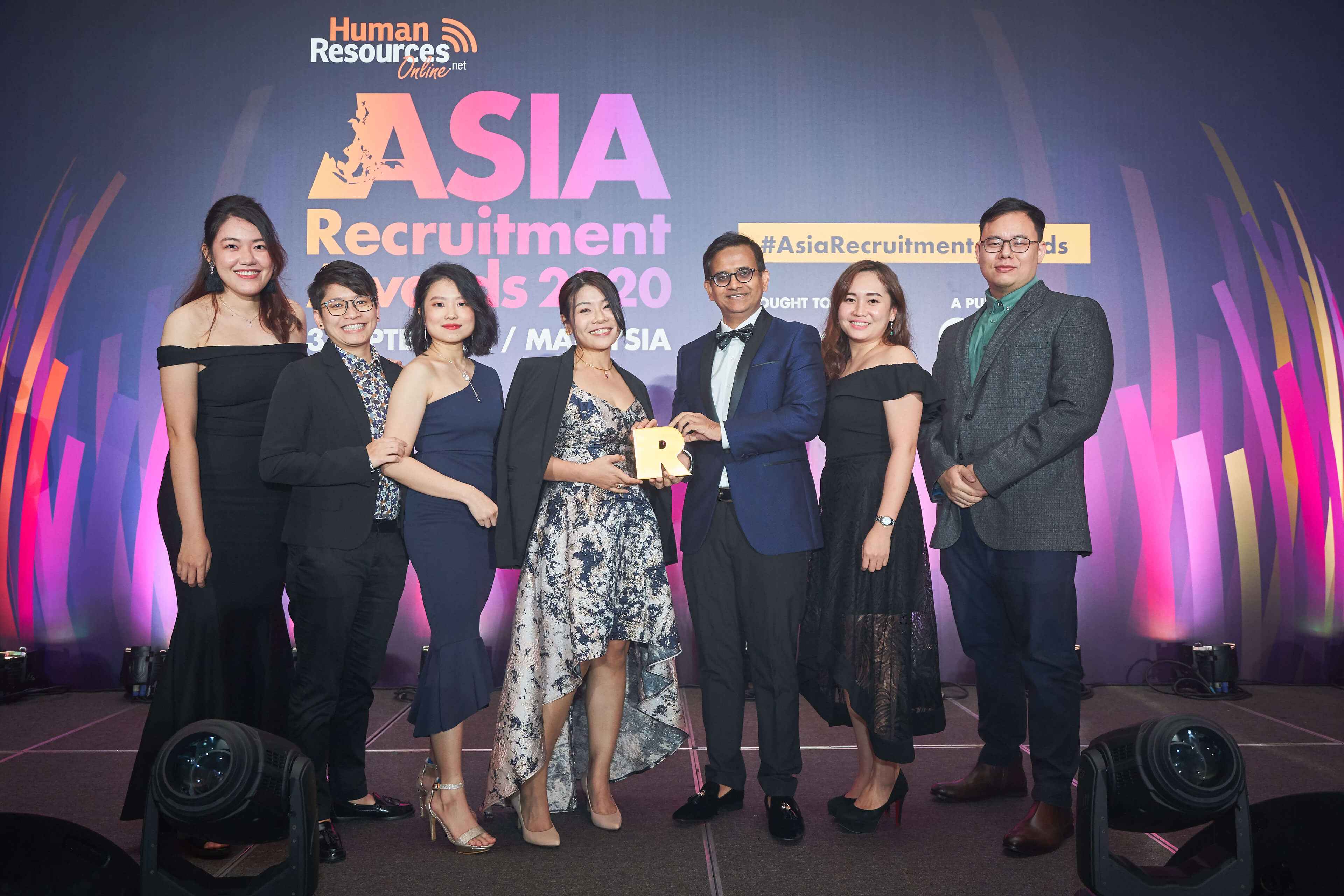 JP Associates IT Recruitment Firm Malaysia - JP associates going up to receive the award for best specialist agency and best new recruitment firm