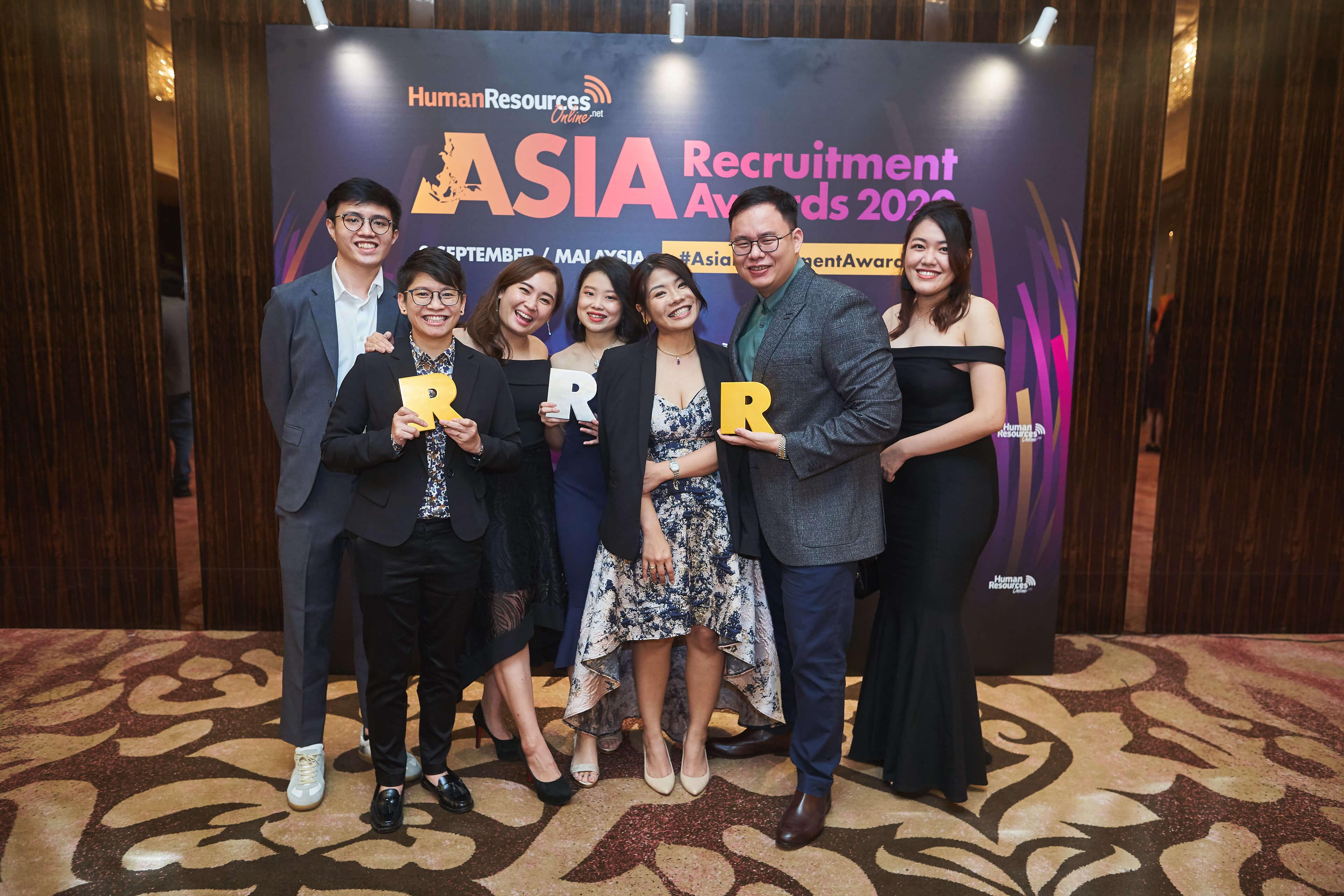 JP Associates IT Recruitment Firm Malaysia - team photo at Asia Recruitment Awards 2020
