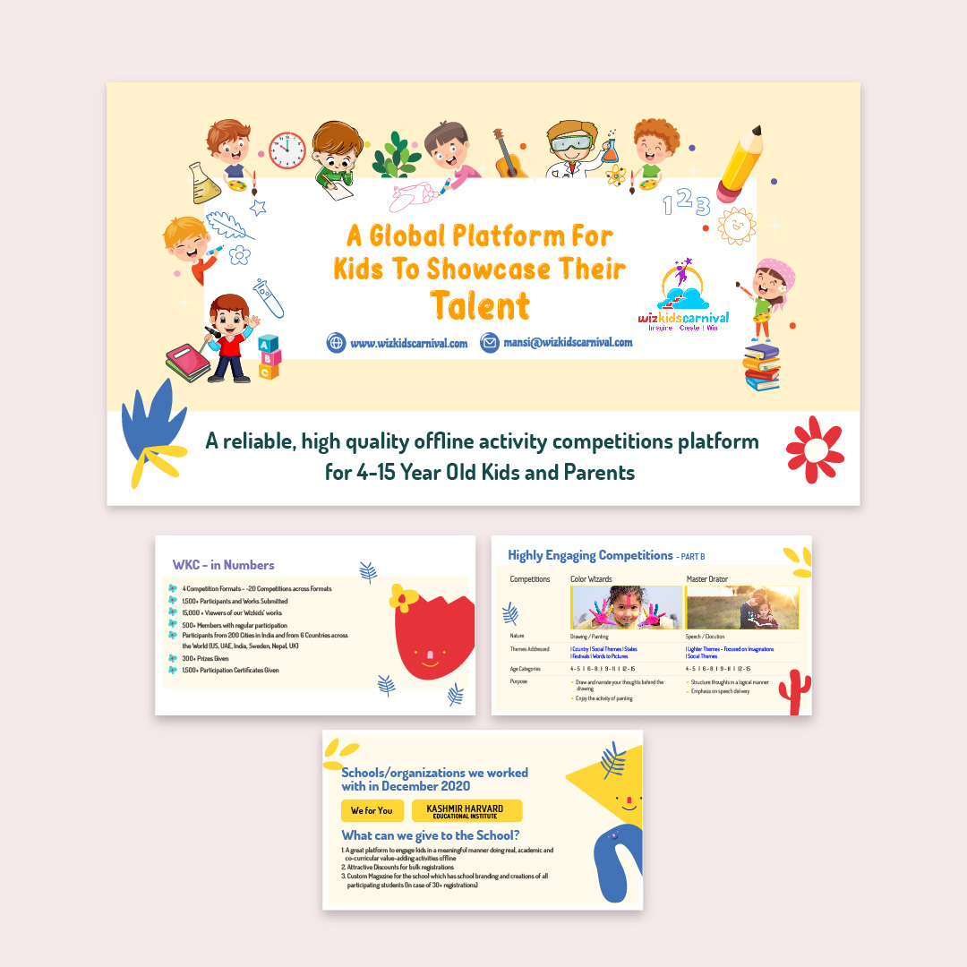Global Platform for kids to showcase their talent