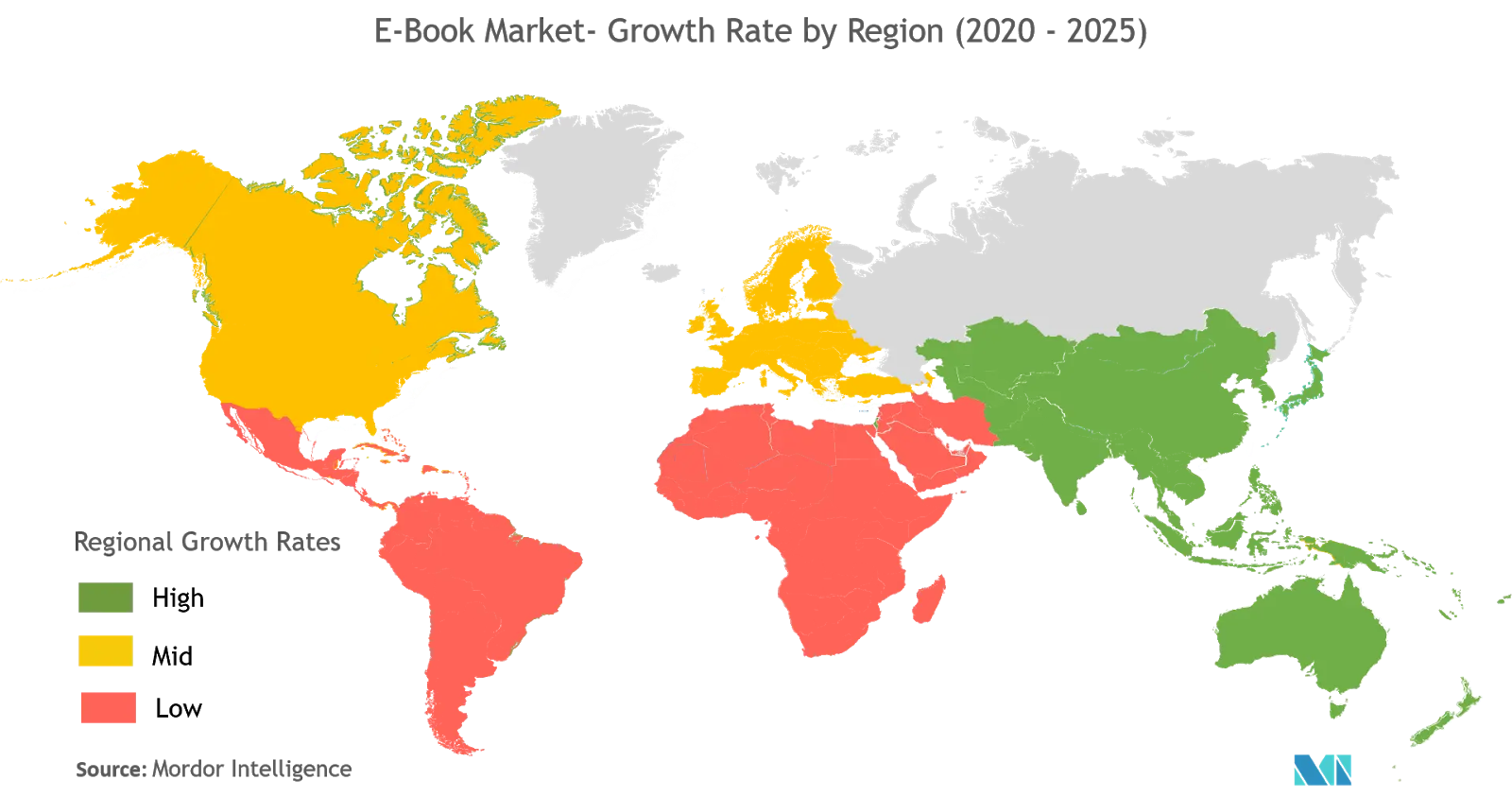 ebook market-growth rate