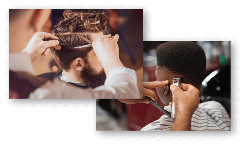Two male hair styles