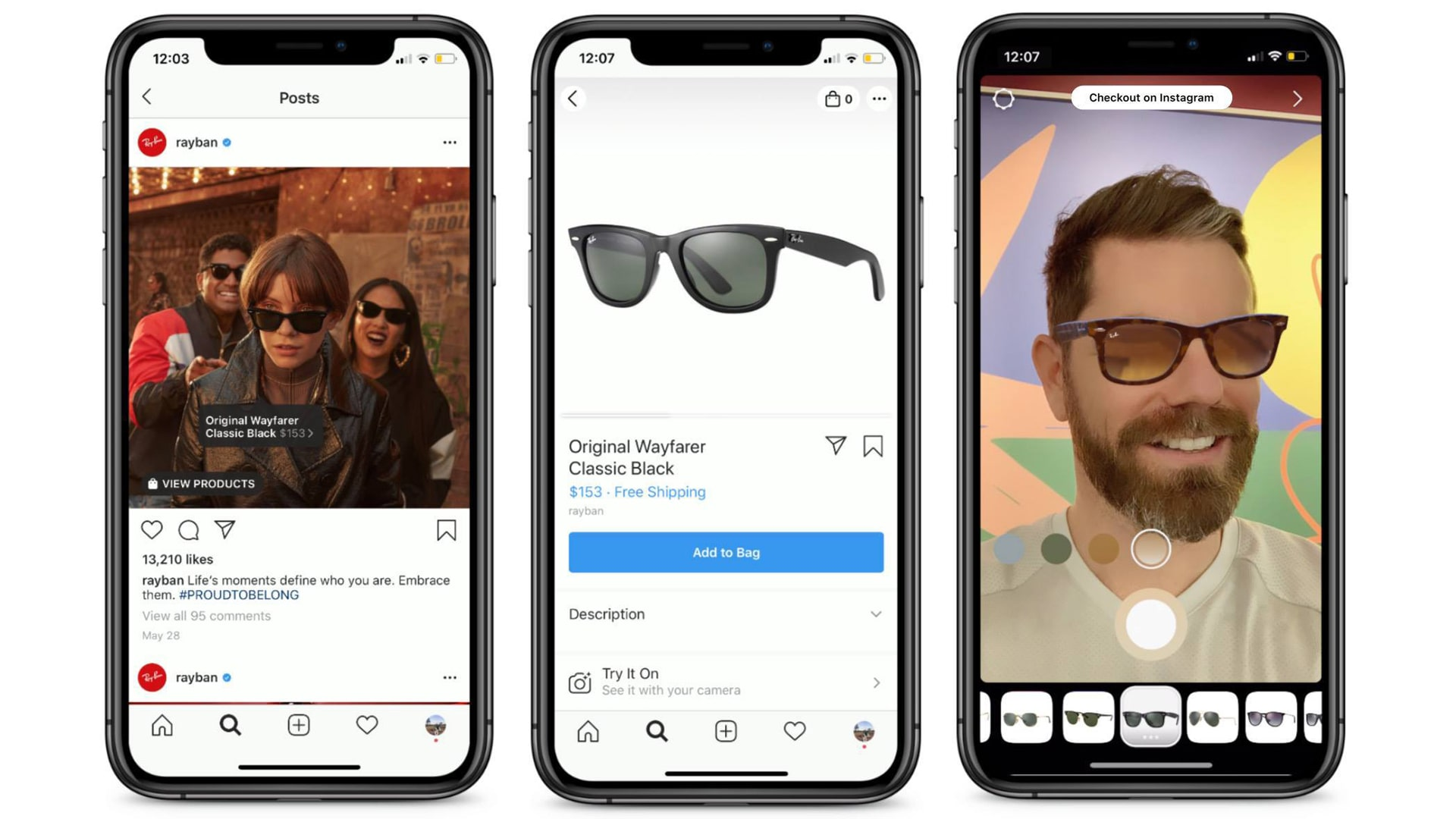 Augmented Reality in Instagram Checkout