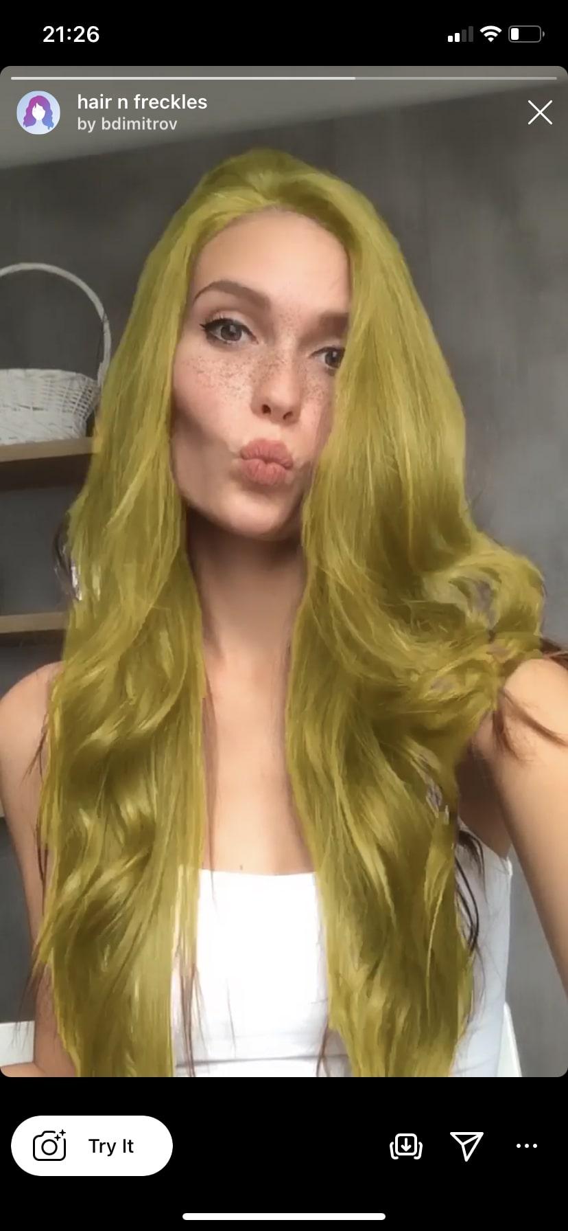 hair n freckles by @bdimitrov hair color Instagram filter
