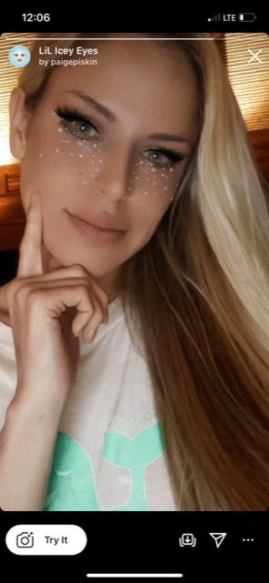 Eye color Instagram filters