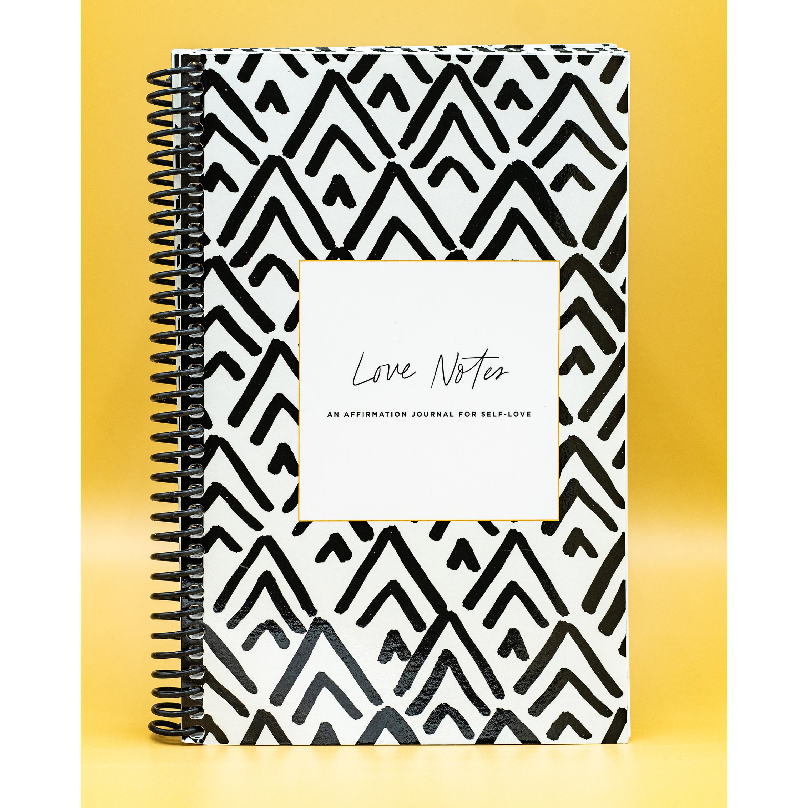"""""""Love Notes"""" Affirmation Journal (spiral bound)"""