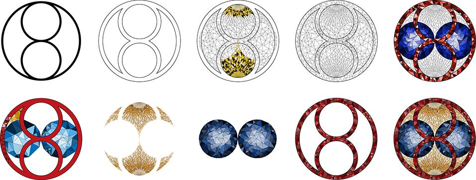 Laatste schetsen van het logo