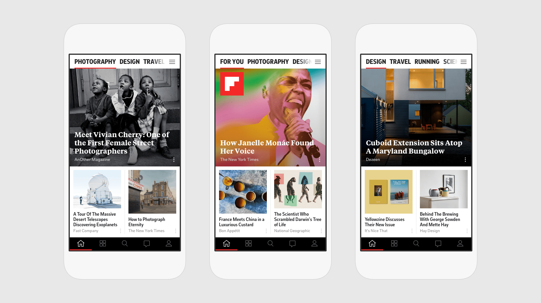 The new Flipboard home experience.