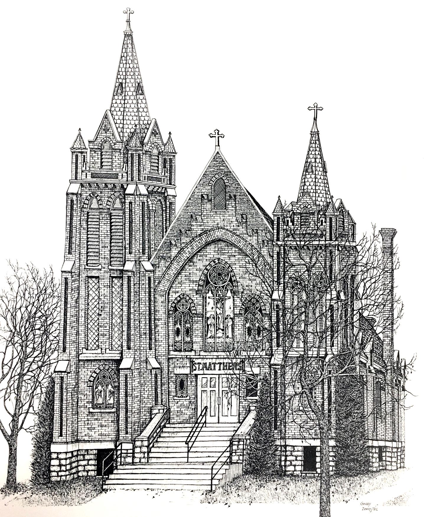 St. Matthew's Church Drawing