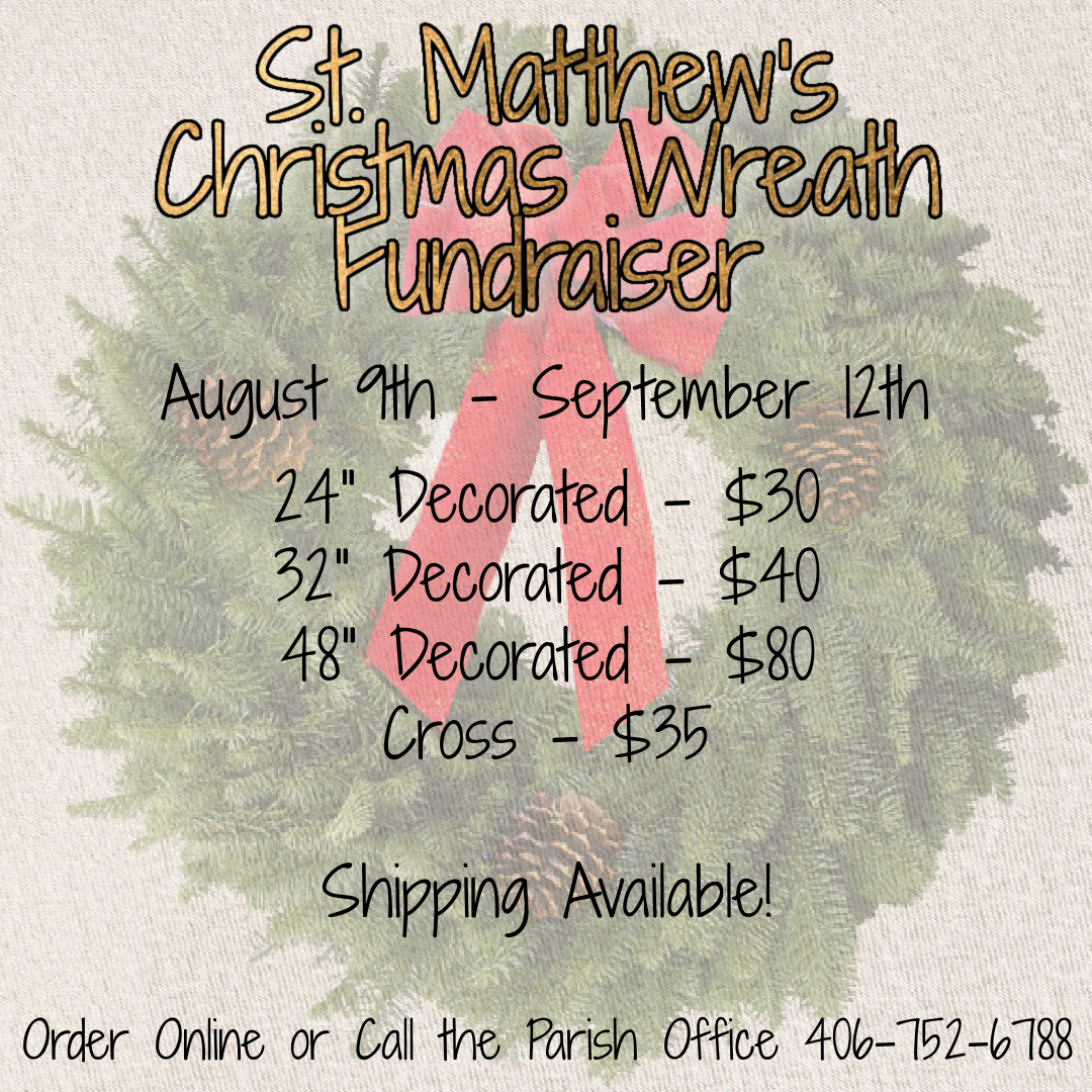 Pricing and sizing of Christmas wreaths