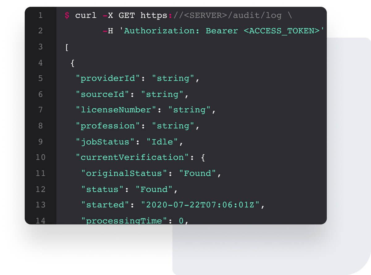 Verifiable API