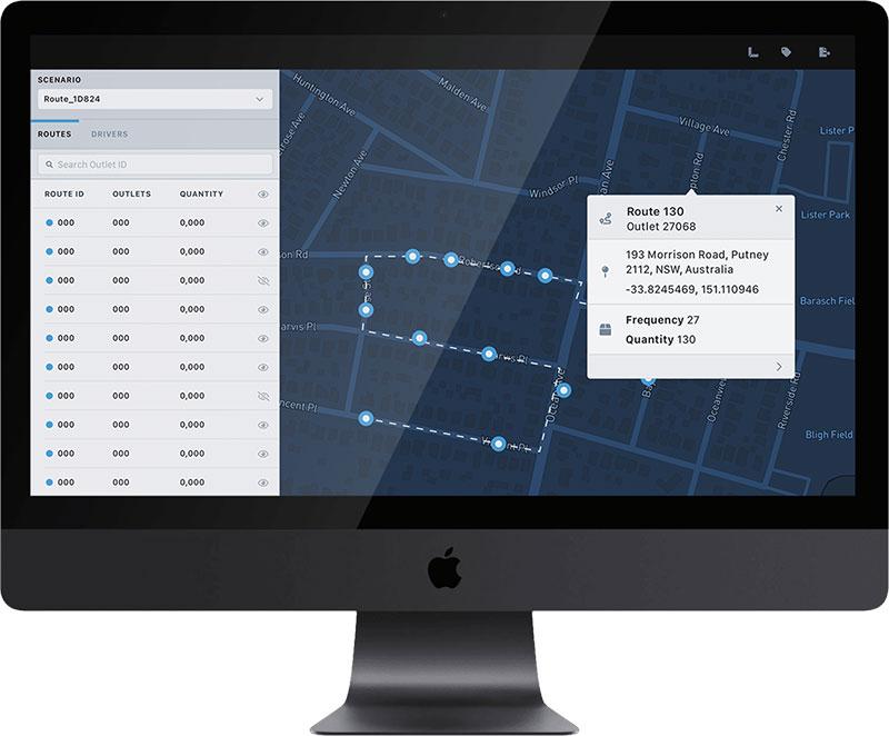 FlexOps Command user interface displayed on iMac Pro computer