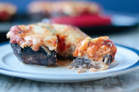 Keto Meal - Lasagna Stuffed Portobello Mushrooms