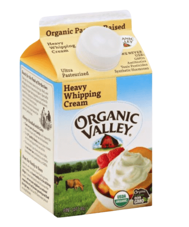Organic Valley Heavy Whipping Cream from Publix
