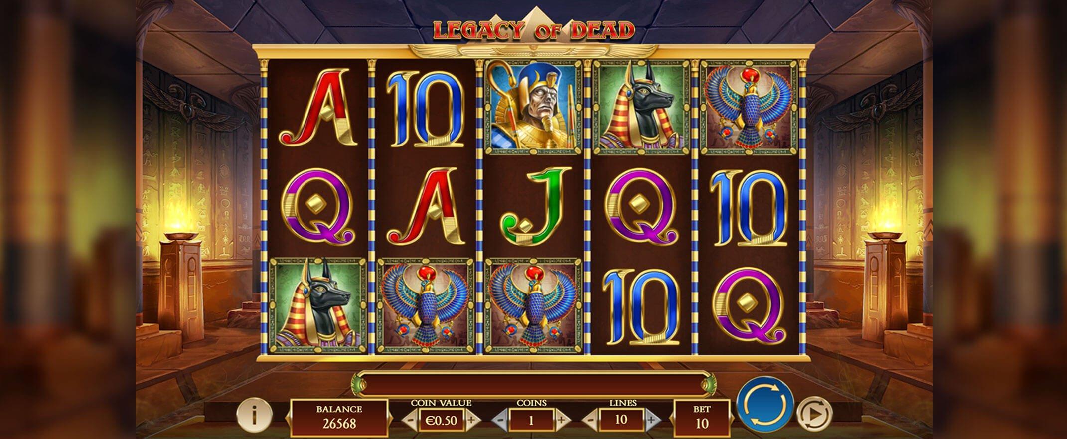 Legacy of Dead casinospel