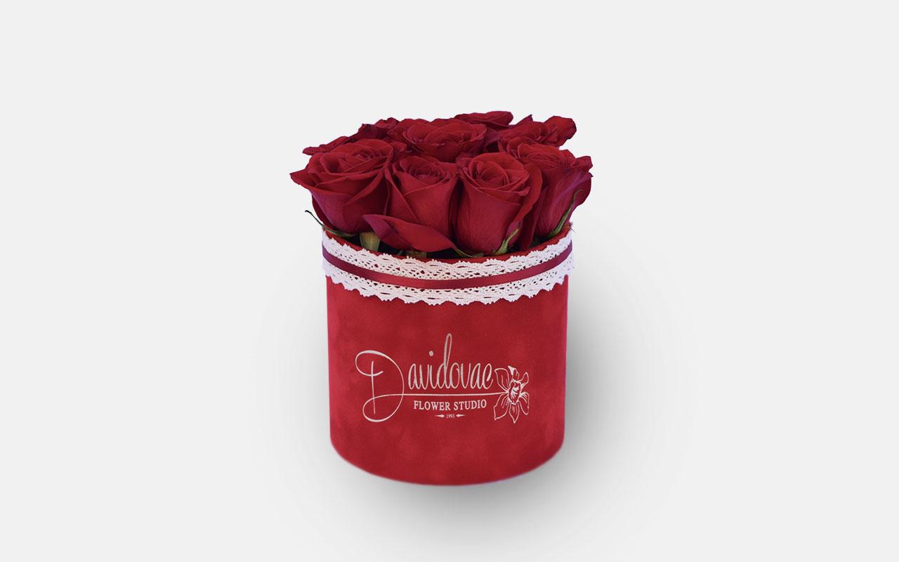 Flower box - Crvene ruže - 11 kom.