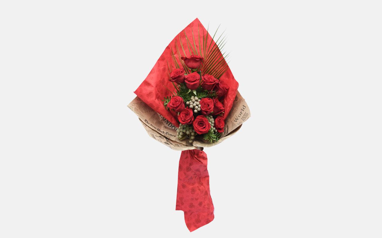 Buket - Crvene ruže - 11 kom.