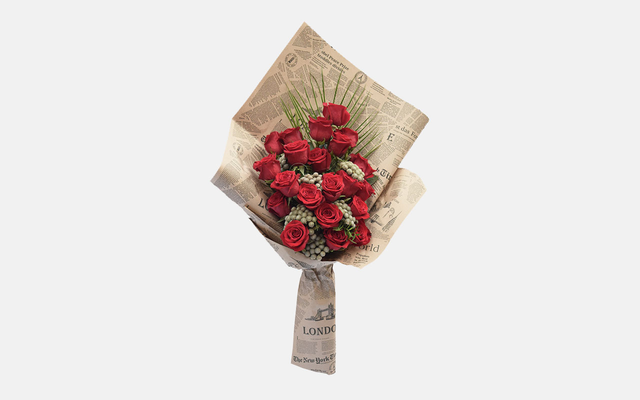 Buket - Crvene ruže - 21 kom.