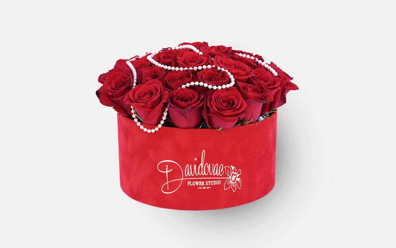 Flower box - Crvene ruže - 31 kom.