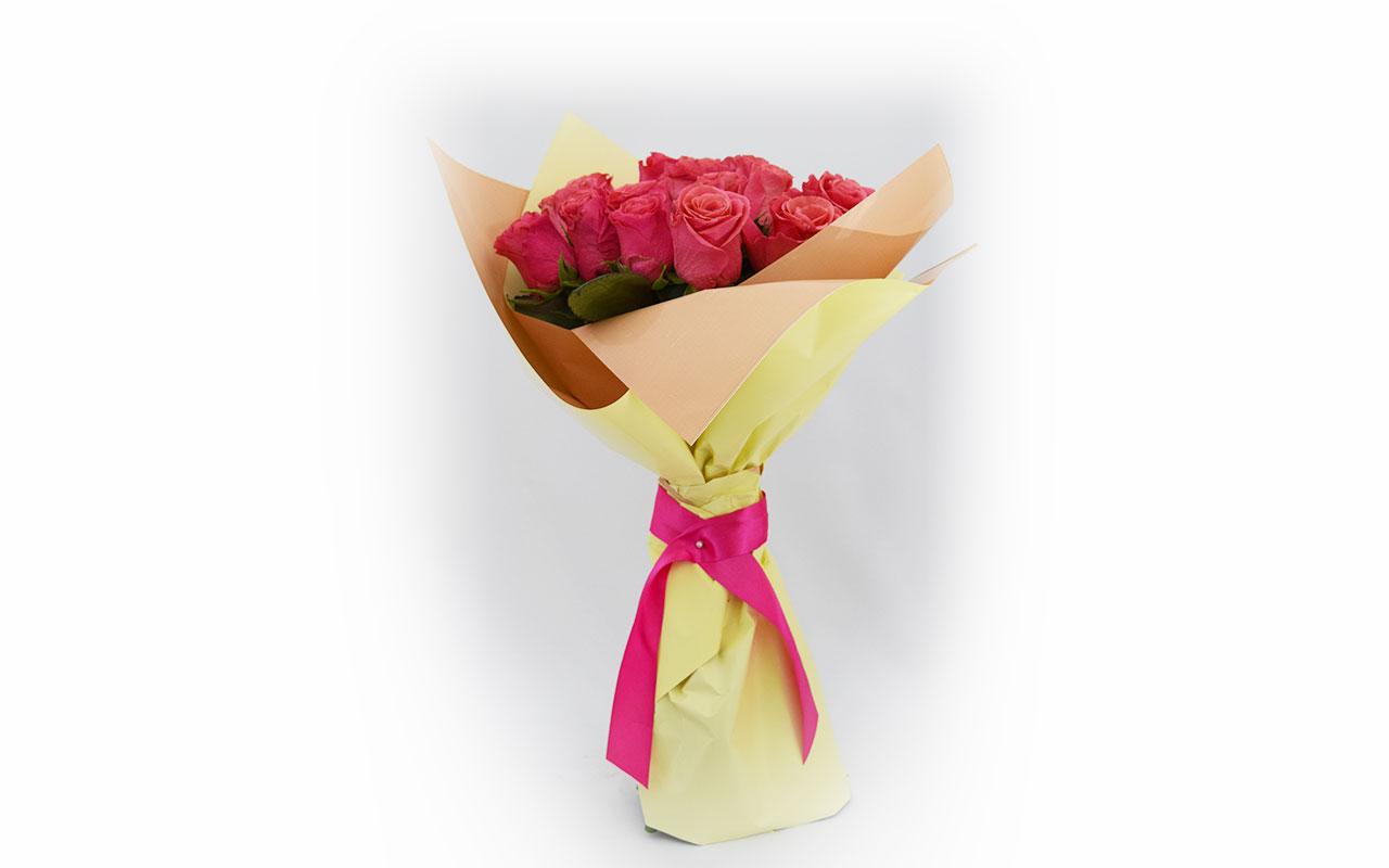 Buket - Roze ruže - 21 kom.