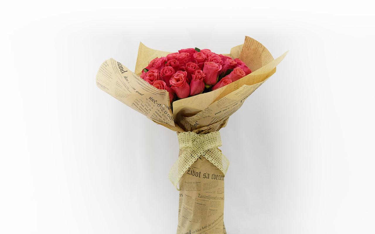 Buket - Roze ruže - 51 kom.