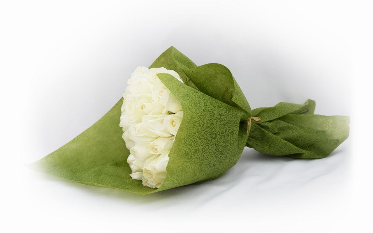 Buket - Bele ruže - 31 kom.