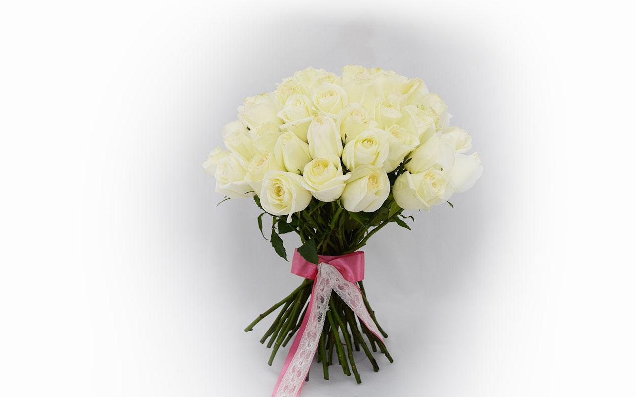 Buket - Bele ruže - 51 kom.