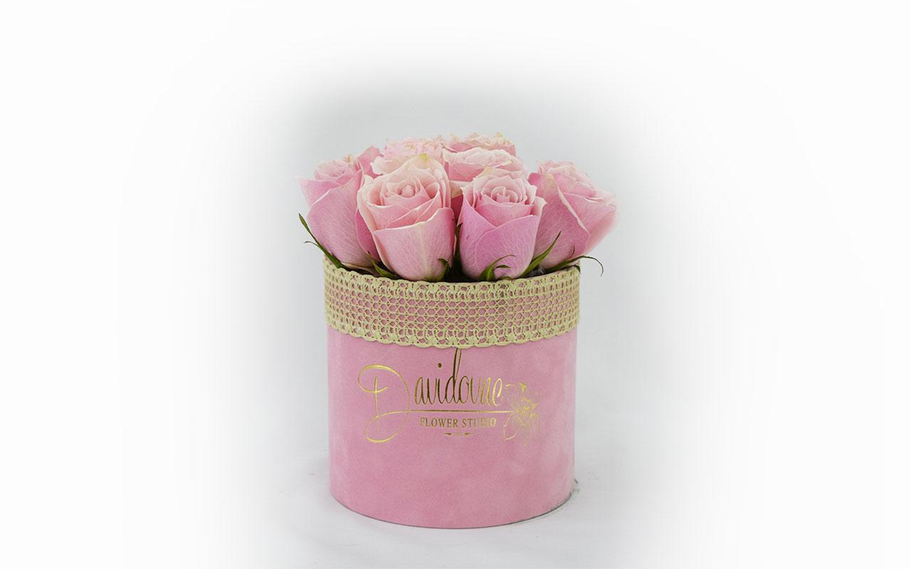 Flower box - Roza ruže - 11 kom.