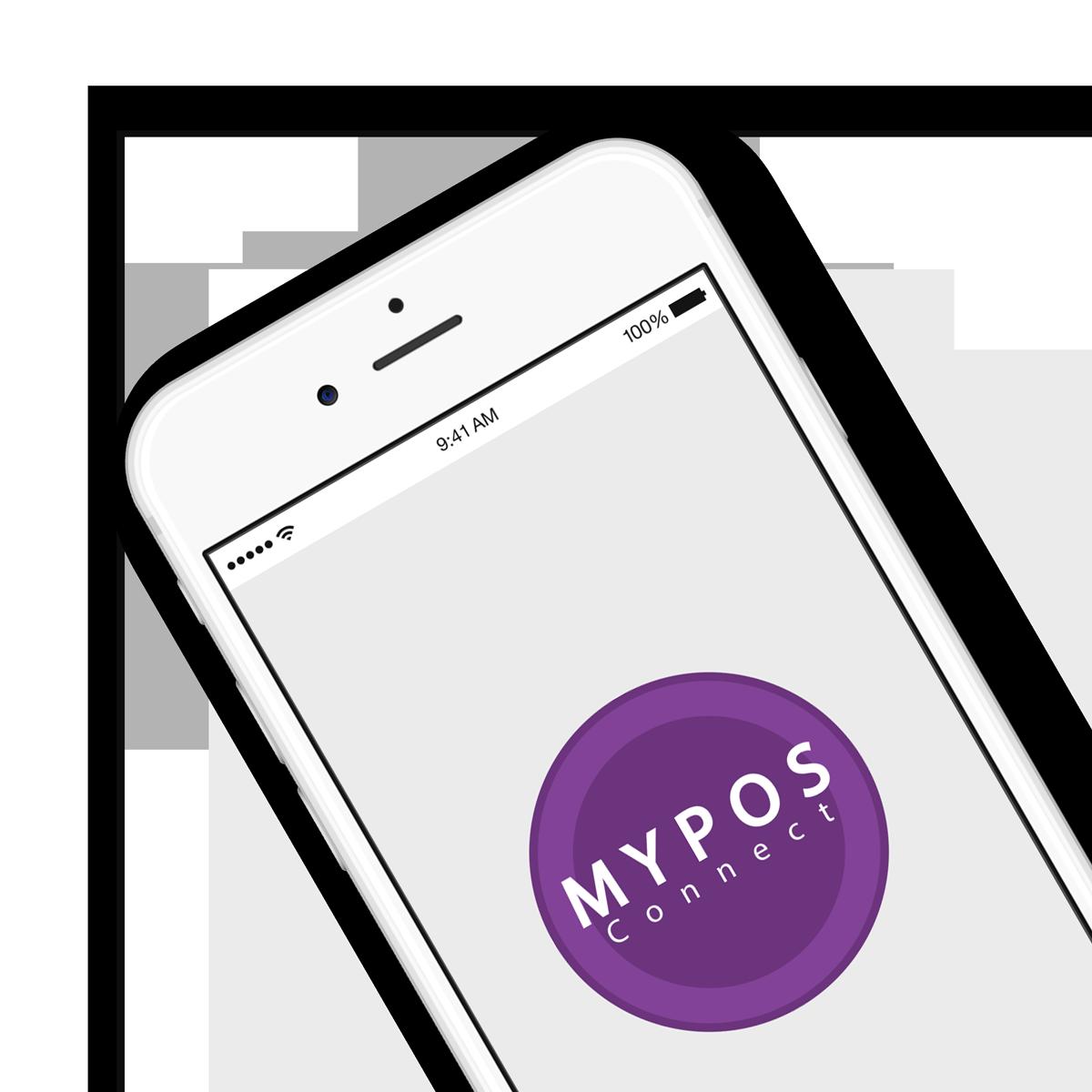 MYPOS Connect iPhone Mockup