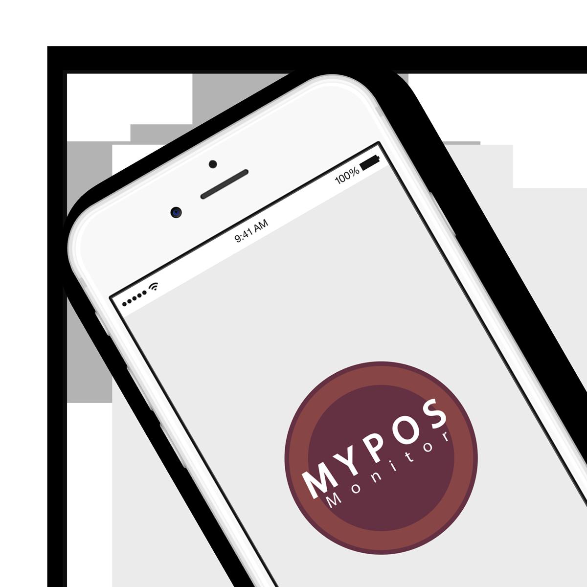 MYPOS Monitor Mockup