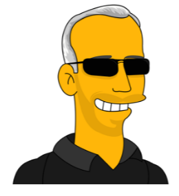 Simpsons Drawing of Andrew